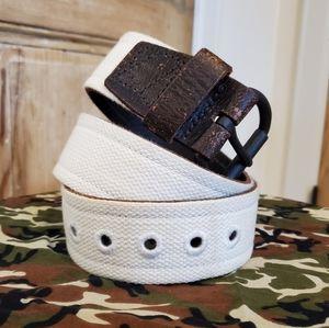 Denim & Supply Ralph Lauren canvas cream belt